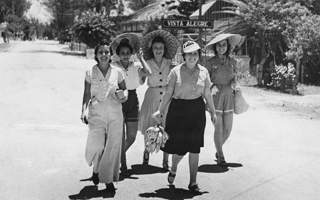 Isabel Schiller (center) and friends enjoy summer in Cuba, late 1930's-early 1940's. (Courtesy)