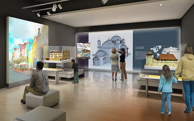 A rendering of the Beit Hatfutsot-Museum of the Jewish People's updated Synagogue Hall. (Courtesy of Beit Hatfutsot-Museum of the Jewish People)