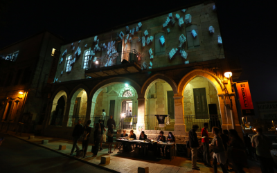 The lights are on in Jerusalem's neighborhood of Musrara this week, May 24-26, 2016, for MusraraMIx 16, an alternative arts festival run by a local art school and held in people's homes and yards (Courtesy MusraraMix)