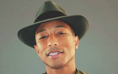 The king of happy, Pharrell Williams, is coming to Israel on July 21, with a performance at Rishon Lezion's LIVE Park (Courtesy Pharrell Williams' Facebook page)
