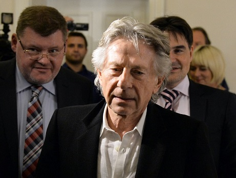 This file photo taken on October 30, 2015, shows Oscar-winning director Roman Polanski arriving for a press conference after his trial at the regional court in Krakow, Poland. (AFP PHOTO/JANEK SKARZYNSKI)