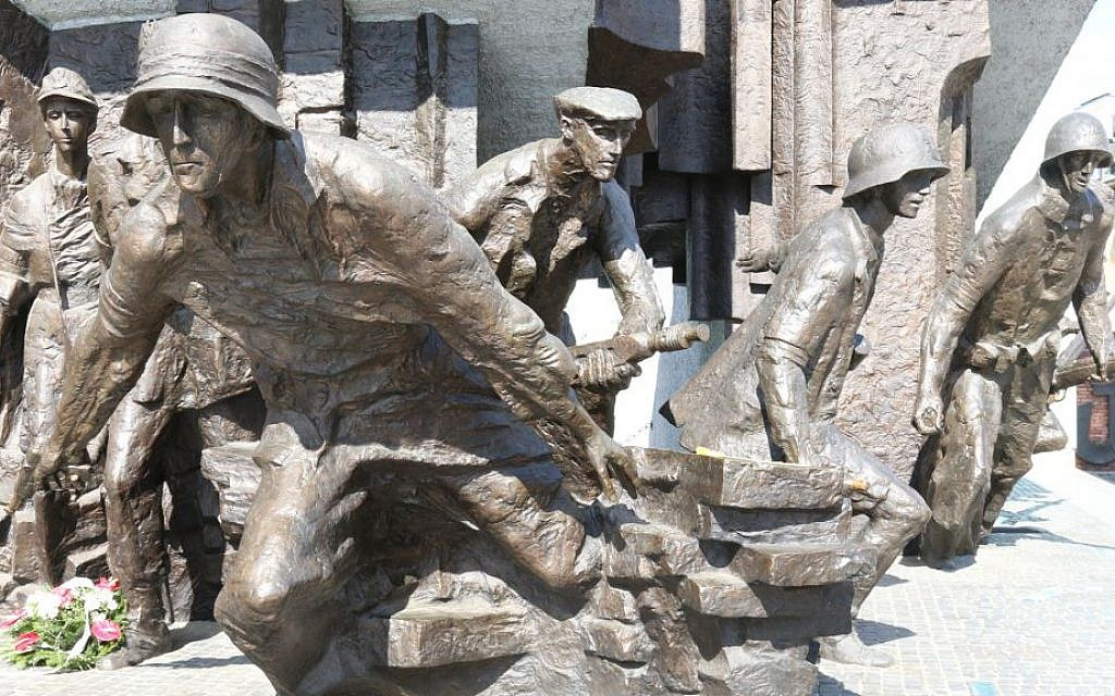 A monument to fighters in the Warsaw Uprising. (Shmuel Bar-Am)