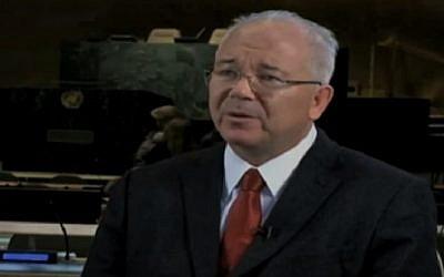 Venezuelan Ambassador to the UN Rafael Ramirez (screen capture: YouTube)