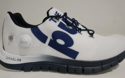 "Reebok announced Monday it would market this ""Israel 68"" commemorative sneaker, but said the next day the project had been announced in error. (Reebok's Facebook page)"
