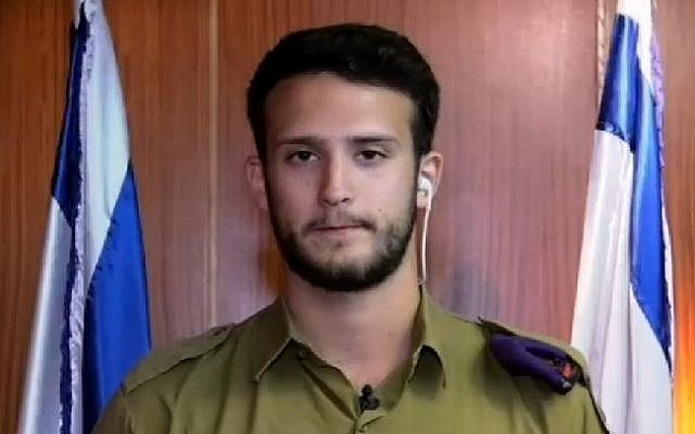 Staff Sgt. (res.) Sahar Elbaz received the Bonei Zion Prize from Nefesh B'Nefesh  in the IDF and National Service Young Leadership category on May 23, 2016 in a Knesset ceremony.  (Screenshot/Channel 10)