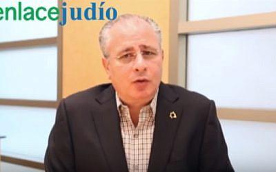 Mexican Jewish community leader Salomon Achar (YouTube screenshot)
