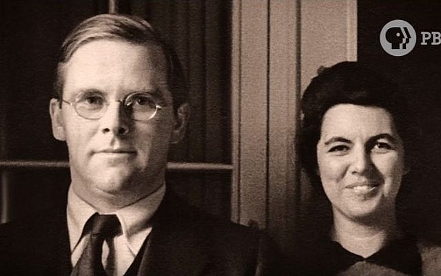 An undated picture of American Unitarian minister Rev. Waitstill Sharp and his wife, Martha. (screen capture: YouTube)