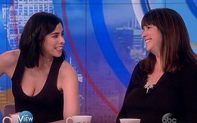 Comedian Sarah Silverman (left) appears with sister Rabbi Susan Silverman on 'The View,' May 26, 2016. (YouTube)
