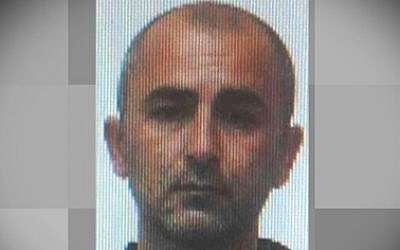 Ian Gavrielov, a suspect in a double homicide in Rishon Lezion on May 25, 2016, was killed by police Saturday May 28, 2016 after a three-day manhunt. (Courtesy: Israel Police)
