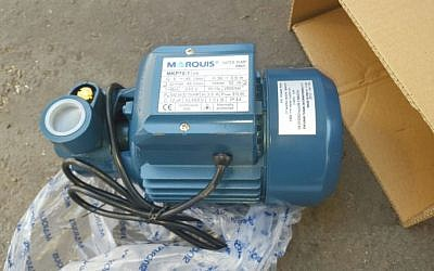 An electric motor discovered by Israeli authorities as it was en route to the Gaza Strip on May 26, 2016. (Defense Ministry)