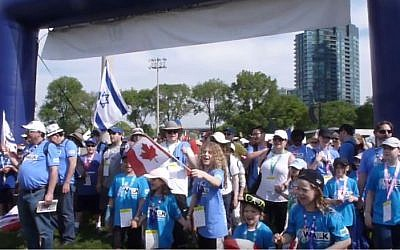 Toronto's 46th annual Walk with Israel, Toronto, Canada, May 29, 2016. (YouTube/CIJnews.com Shneider)