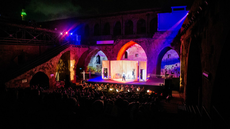 Rehearsing for the Acre Opera Festival 2016, among the Crusader-era arches of the ancient city (Courtesy Yoav Pili)