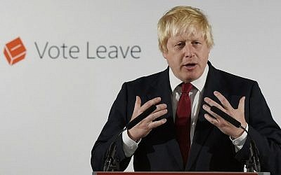 """Former London Mayor and """"Vote Leave"""" campaigner Boris Johnson speaks during a press conference in central London on June 24, 2016. Johnson spearheaded the successful campaign for Britain to leave the European Union. (AFP PHOTO / POOL / Mary Turner)"""
