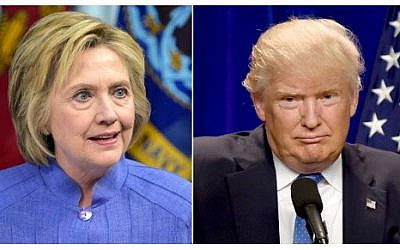 This combination of file photos shows Democratic presidential candidate Hillary Clinton (left) on June 15, 2016, and presumptive Republican presidential nominee Donald Trump on June 13, 2016. (AFP/dsk)