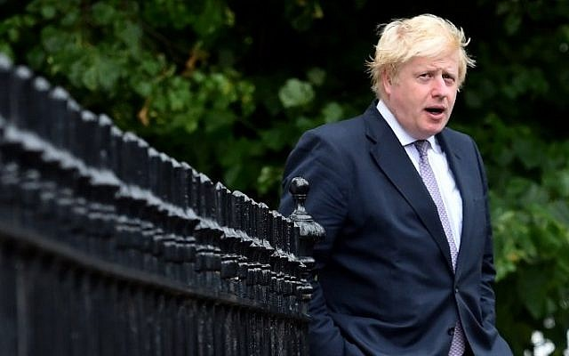 Brexit campaigner and former London mayor Boris Johnson leaves his home in London on June 27, 2016. (AFP Photo/Ben Stansall)