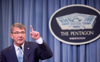 US Secretary of Defense Ash Carter speaks during a press conference at the Pentagon in Arlington, Virginia, June 30, 2016.  (Allison Shelley/Getty Images/AFP)