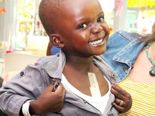 Four-year-old Sanusey from Gambia recovers after life-saving heart surgery at Wolfson Medical Center in Holon, Israel. Sanusey is the 4,000th child to receive heart surgery from the Israeli charity Save a Child's Heart. (Courtesy, Save a Child's Heart)