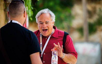 Alan Weinkrantz at the Kahenacon SEO conference in Jerusalem in 2015. (courtesy Kahena Digital Marketing)