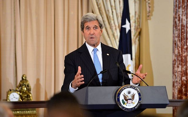 John Kerry talks at the US Department of State in Washington, DC, on June 22, 2016. (State Department)