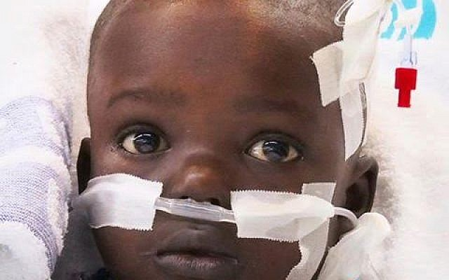 Sanusey, a Gambian four-year-old who underwent life-saving heart surgery in Israel (Stella Shalhevet / Save a Child's Heart)