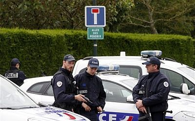 Illustrative photo of French police officers. (AP Photo/Thibault Camus)