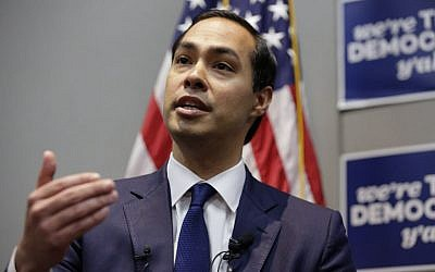 Then-Housing and Urban Development Secretary Julian Castro speaks at the Texas Democratic convention on Friday, June 17, 2016, in San Antonio (AP Photo/Eric Gay)