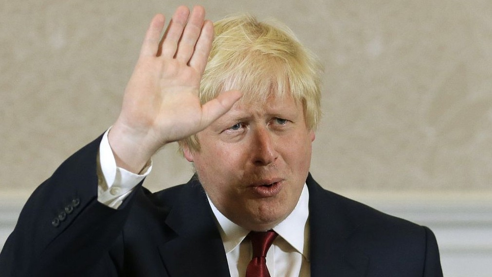 Former London mayor Boris Johnson waves after he announced that he will not run for leadership of Britain's ruling Conservative Party in London, June 30, 2016. (AP/Matt Dunham)