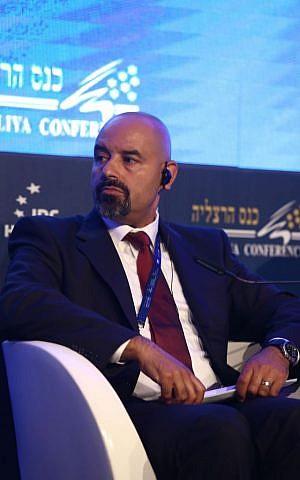 Jordanian Ambassador to Israel Walid Obeidat at the Herzliya Conference, June 16, 2016 (Adi Cohen Zedek)