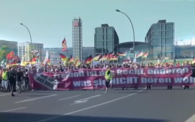 Anti-Refugee Rally in Germany. (Screen Capture: YouTube)