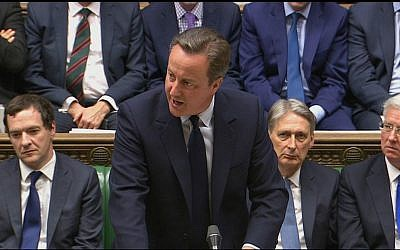 In this image taken from the Parliamentary Recording Unit, Britain's Prime Minister David Cameron addresses the House of Commons in London, Monday June 27, 2016, regarding the result of the referendum vote on leaving the EU which took place Thursday. (Parliamentary Recording Unit via AP)