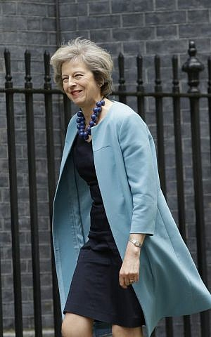 British Home Secretary Theresa May arrives for a cabinet meeting at 10 Downing Street in London, Monday, June 27, 2016. (AP/Matt Dunham)