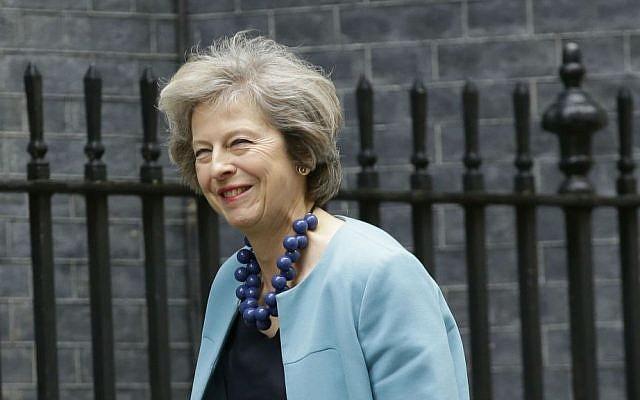 British Home Secretary Theresa May arrives for a cabinet meeting at 10 Downing Street in London, Monday, June 27, 2016. (AP Photo/Matt Dunham)