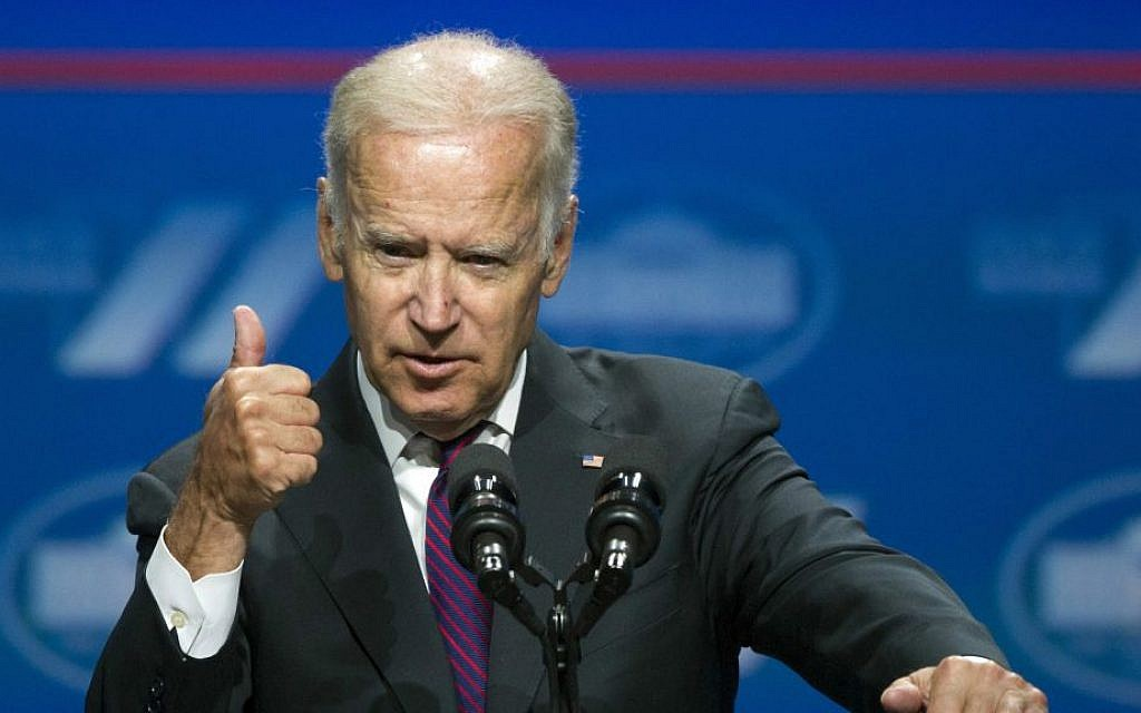 This June 14, 2016, file photo shows Vice President Joe Biden addressing the White House Summit on the United State of Women in Washington. (AP Photo/Cliff Owen, File)