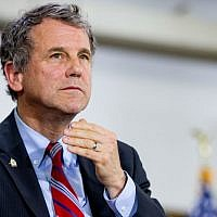 In this photo taken June 13, 2016, Sen. Sherrod Brown, D-Ohio, is seen in Cleveland, Ohio. (AP Photo/Andrew Harnik)