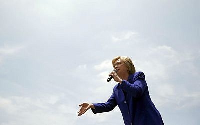 Democratic presidential candidate Hillary Clinton speaks at a rally, Monday, June 6, 2016, in Lynwood, California. (AP Photo/John Locher)