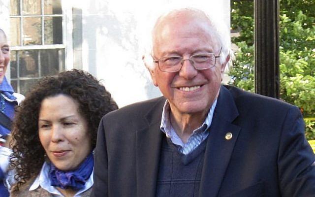 Democratic presidential candidate Sen. Bernie Sanders, I-Vt., arrives at City Hall Park in Burlington, Vt., June 13, 2016. (AP/Wilson Ring)