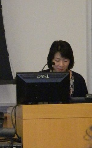 Professor Miyuki Kita teaches an American History class focusing on civil rights at University of Kitakyushu in Japan. (Courtesy)