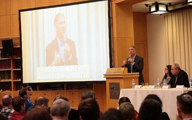 Rabbi Donniel Hartman speaks at the Hartman Institute (Courtesy of Shalom Hartman Institute)