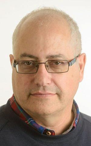 Michael Feige, professor of Israel studies at Ben Gurion University, of of four victims killed in a terror attack in Tel Aviv's Sarona Market on June 6, 2016. (Dani Machlis)