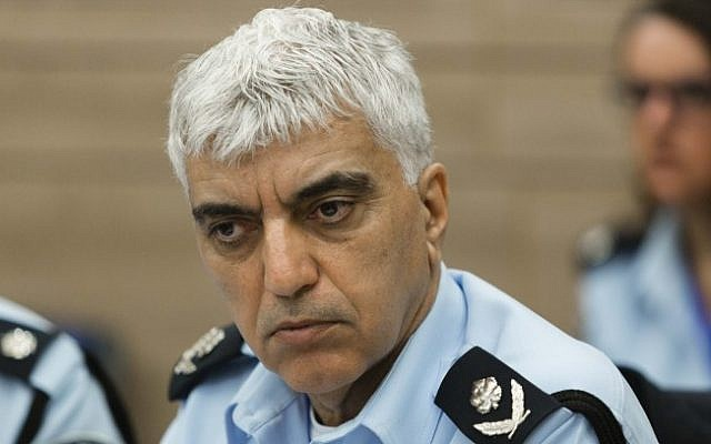 Israeli Police Commander Menny Yitzhaki attends a State control committee meeting in the Knesset on February 18, 2014 (Flash 90)