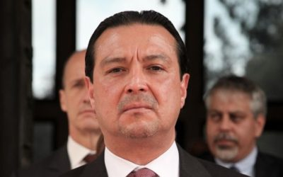 El Salvadorian Ambassador to Israel, Werner Matias Romero Guerra, at the President's Residence in Jerusalem, November 9, 2015. (Issac Harari/Flash90)