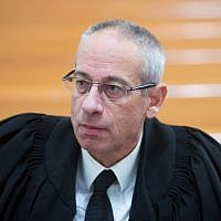 Attorney Navot Tel-Zur seen in the courtroom at the Supreme Court in Jerusalem, February 9, 2016. (Yonatan Sindel/Flash90/File)