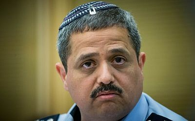 Chief of Police Roni Alsheich at the Knesset, March 29, 2016. (Yonatan Sindel/Flash90)