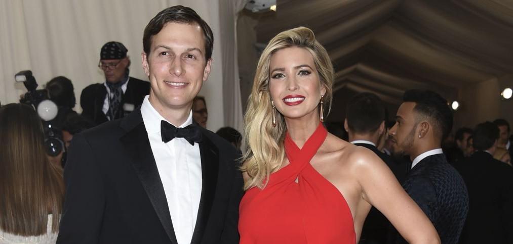 Jared Kushner, left, and Ivanka Trump arrive at The Metropolitan Museum of Art Costume Institute Benefit Gala, in New York, May 2, 2016. (AP/Evan Agostini/Invision)