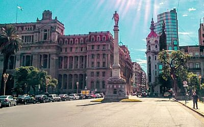 Argentina's Supreme Court (left) in Buenos Aires. (Ilan Ben Zion/Times of Israel staff)