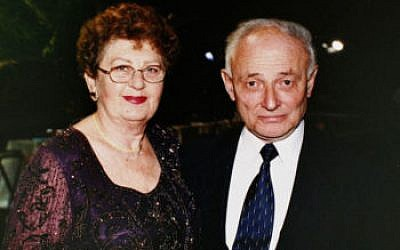 Liviu Librescu and his wife, Marlena Librescu, in an undated photograph (Librescu family via Getty Images via JTA)
