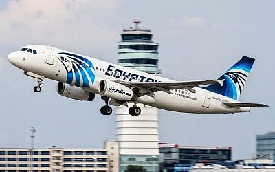 Illustrative. EgyptAir Airbus A320 with the registration SU-GCC taking off from Vienna International Airport, Austria, on August 21, 2015. (AP/Thomas Ranner, File)
