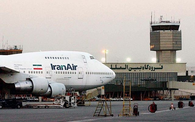 A Boeing 747 of Iran's national airline is seen at Mehrabad International Airport in Tehran, June 2003. (AP/Hasan Sarbakhshian, File)