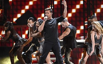 Ricky Martin performs at the 16th annual Latin Grammy Awards in Las Vegas on Nov. 19, 2015. (Chris Pizzello/Invision/AP)