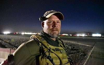 This May 29, 2016, photo shows David Gilkey, a veteran news photographer and video editor for National Public Radio photographer, at Kandahar Airfield in Afghanistan. Gilkey and an Afghan translator, Zabihullah Tamanna, were killed while on assignment in southern Afghanistan on Sunday, June 5, 2016, a network spokeswoman said. (Michael M. Phillips/The Wall Street Journal via AP)